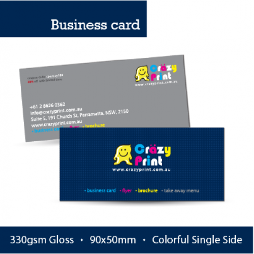 Business card single side full color print reheart Gallery