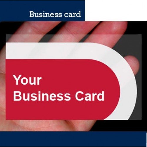 Plastic business card single side full color print reheart Image collections